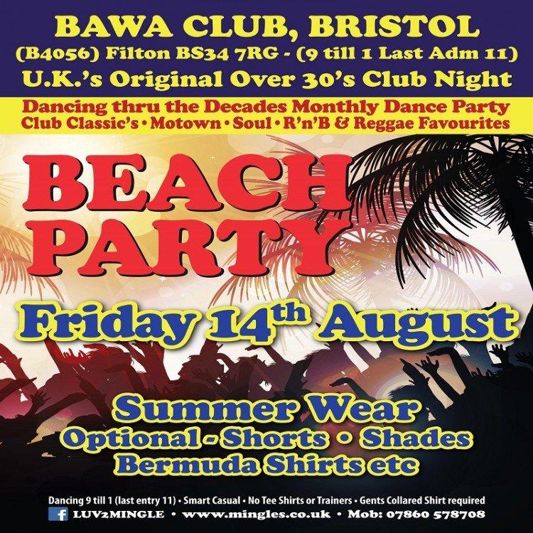 Mingles Beach Party advertisement