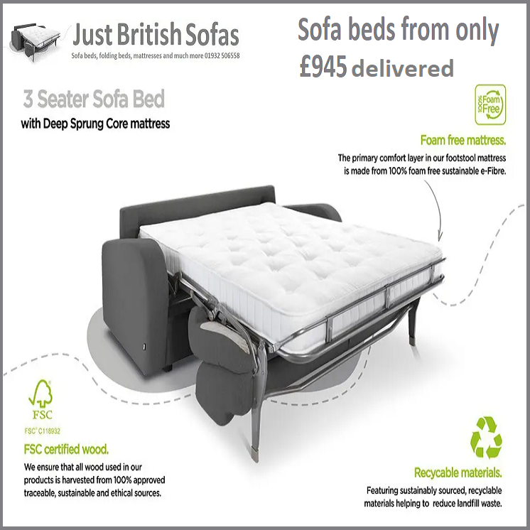 Sofa beds from 945 delivered